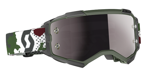 Scott 2021 Fury Goggle Camo Dk Green White With Silver Chrome Works Lens
