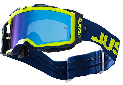 Just1 Nerve Goggle Absolute Yellow/Blue With Mirror Blue Lens