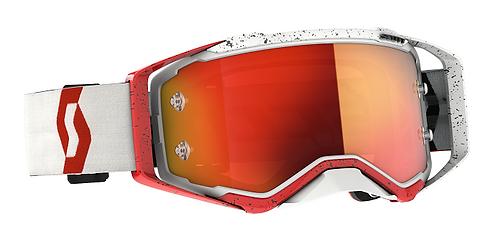 Scott 2021 Prospect Goggle Red/White With Orange Chrome Lens