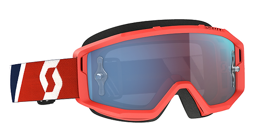 Scott Primal Goggle Red/Blue With Blue Works Chrome Lens