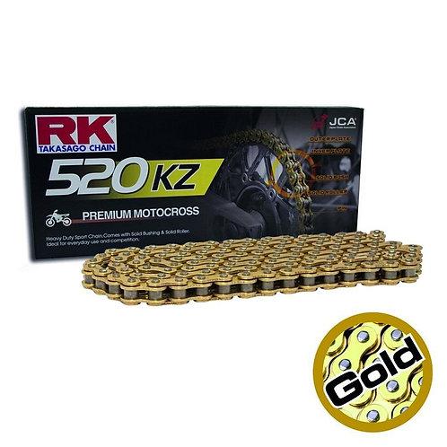 RK520 KZ 120L Premium Motocross Chain Gold