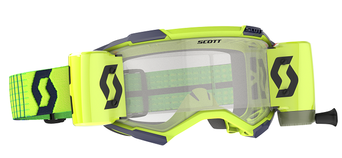 Scott Fury WFS Roll Off Goggle Blue/Yellow Clear Lens