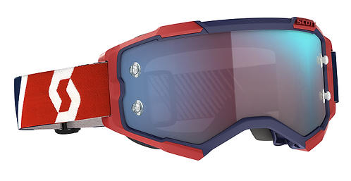 Scott 2021 Fury Goggle Red/Blue With Blue Chrome Works Lens