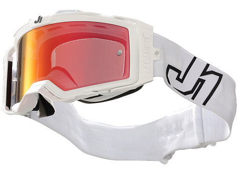 Just1 Nerve Goggle Prime White With Mirror Red Lens