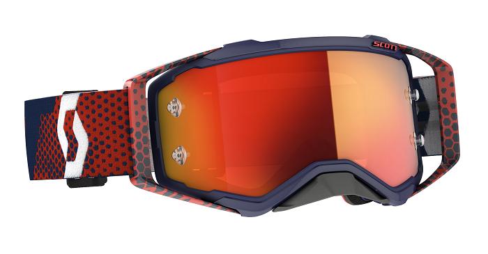 Scott 2021 Prospect Goggle Red/Blue With Orange Chrome Lens