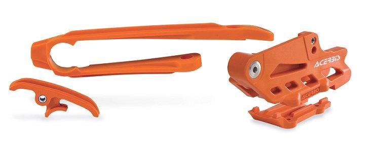 Acerbis KTM SXF EXC/F Chain Guide & Slider Kit Orange