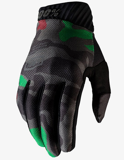 100% Ridefit Glove Black Camo