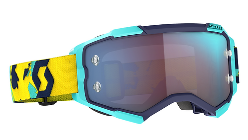 Scott 2021 Fury Goggle Blue/Yellow With Blue Chrome Works Lens