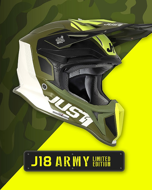 Just1 J18 Pulsar Helmet Green/Black/White Large