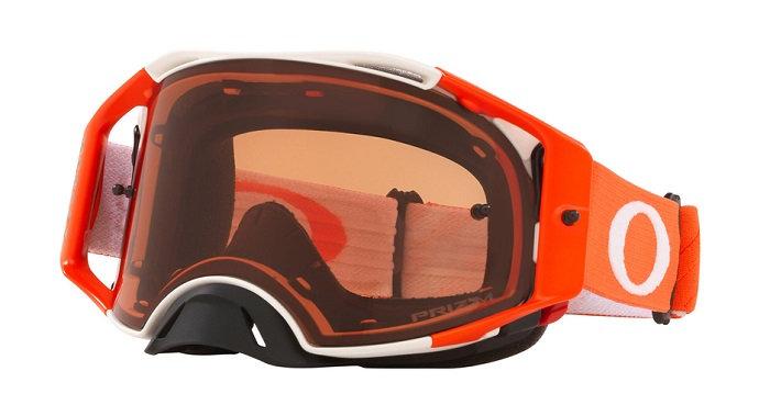 Oakley Airbrake Goggle (Tuff Blocks White/Orange) Prizm MX Bronze Lens