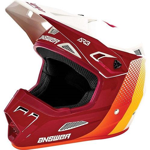 Answer 2021 AR3 Helmet Pace Ghost/Berry/Orange