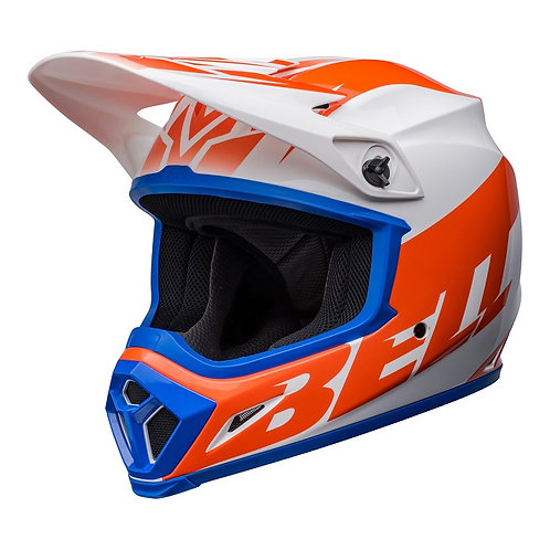 Bell MX 2022 MX-9 Mips Adult Helmet Disrupt White/Orange