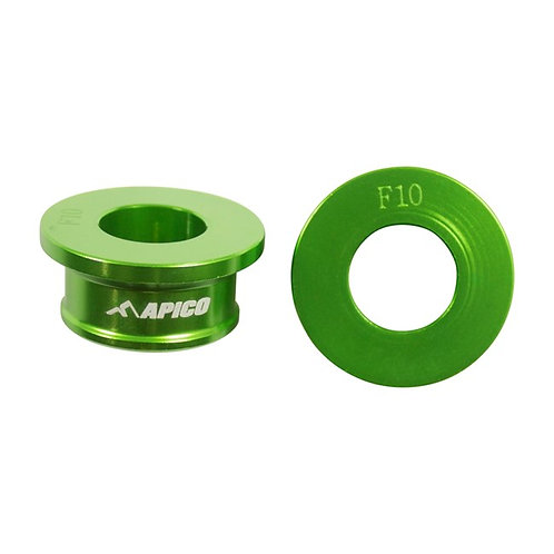 Apico Front Wheel Spacers KX85 01-21 Green