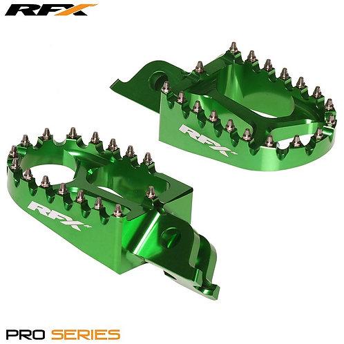 RFX Kawasaki Pro Footrests Green KXF250 06-20 KXF450 07-20