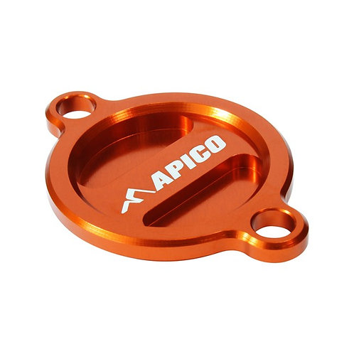 Apico KTM Oil Filter Cover Orange