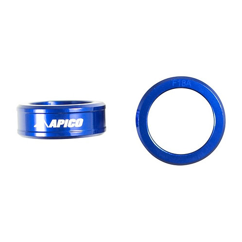 Apico Front Wheel Spacers YZF250/450 14-21 Blue