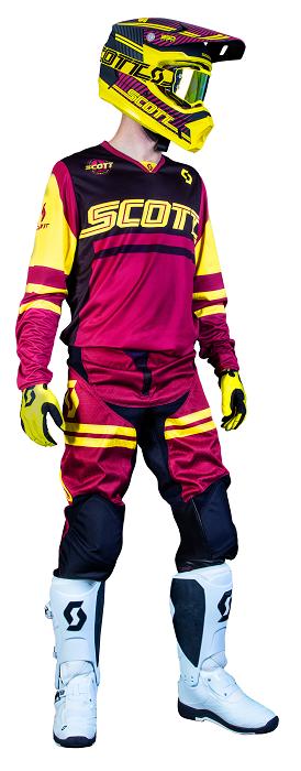Scott 350 Race Motocross Kit Maroon/Yellow