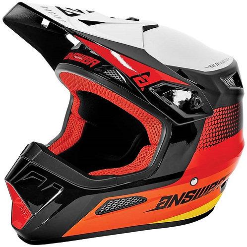Answer Helmet AR1 Swish Red/Orange/Silver