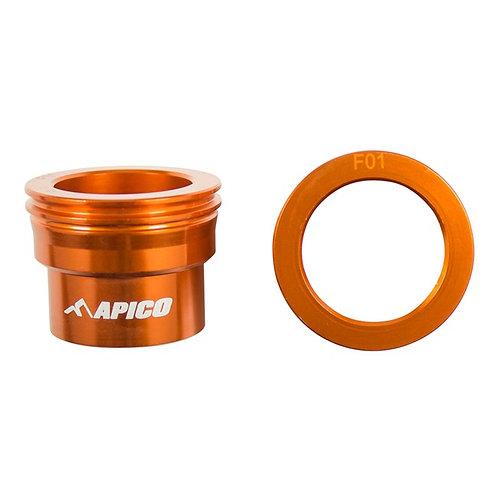 Apico Front Wheel Spacers SX-SXF 125-450 15-21 EXC-EXC-F 16-21 Orange