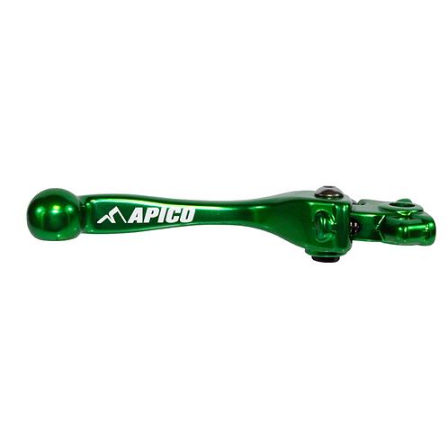 Apico Kawasaki Elite Front Brake Lever Green