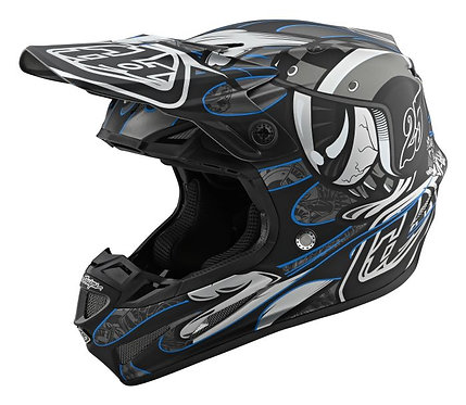 Troy Lee Designs 2021 SE4 Composite Eyeball Black/Silver