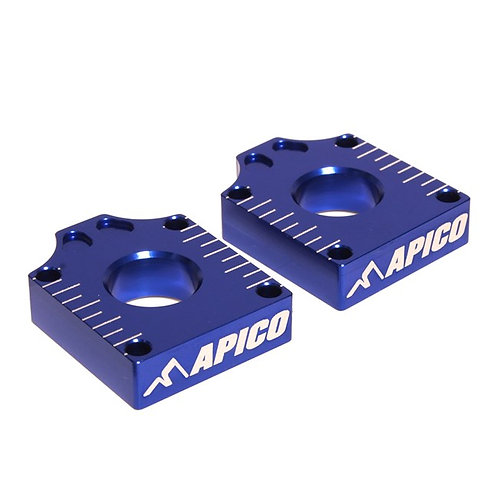 Apico Yamaha YZ65 18-20 YZ85 19-20 Blue Axle Blocks