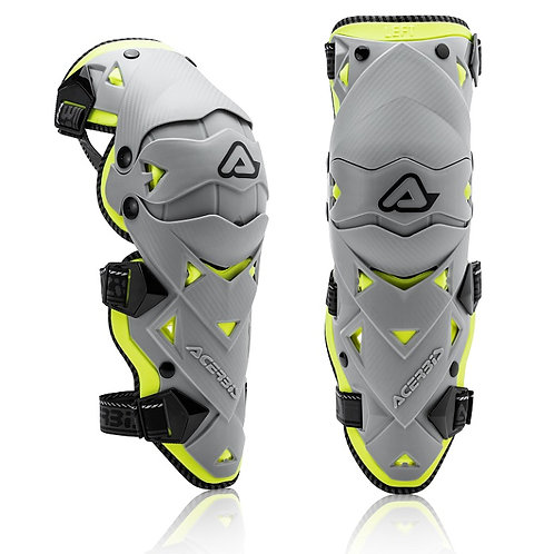 Acerbis Impact Evo 3.0 Knee Guards Grey/Yellow