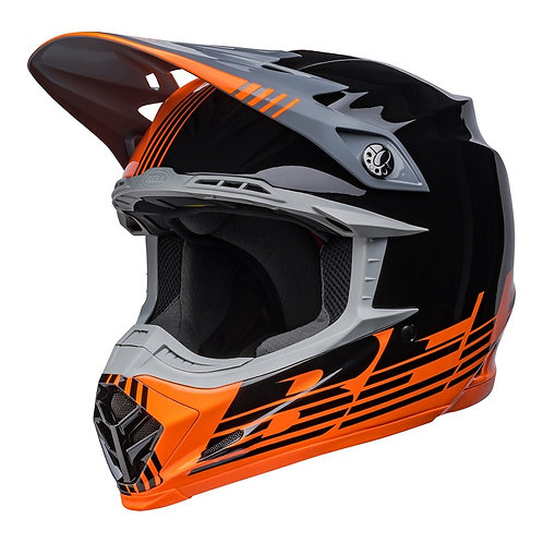Bell MX 2022 Moto-9 Mips Adult Helmet Louver Black/Orange