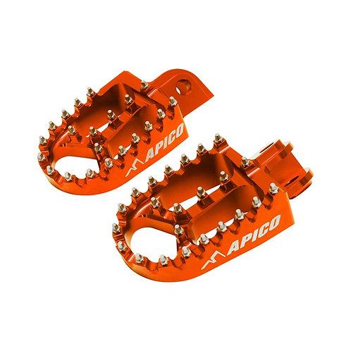Apico KTM Xtreme Foot Pegs Orange SX/SXF 50cc-450cc