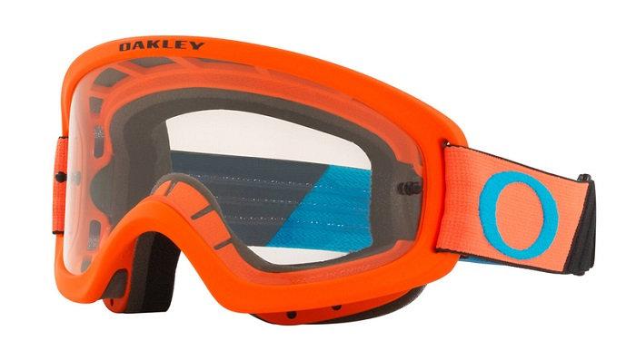 Oakley O Frame 2.0 Pro Youth Goggle (Tuff Blocks Orange/Blue) Clear Lens
