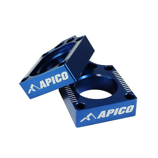 Apico Yamaha YZF250/450 09-13 Blue Axle Blocks