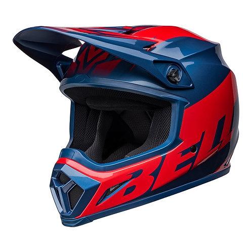 Bell MX 2022 MX-9 Mips Adult Helmet Disrupt True Blue/Red