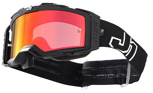 Just1 Nerve Goggle Prime Black With Mirror Red Lens
