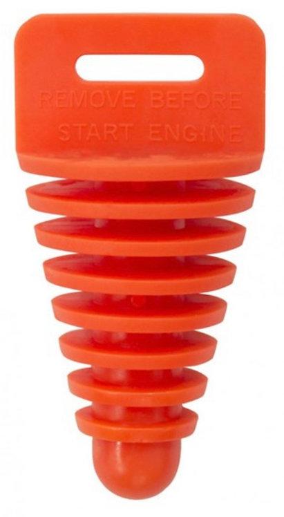 Apico 2 Stroke Exhaust Plug With Lanyard Orange