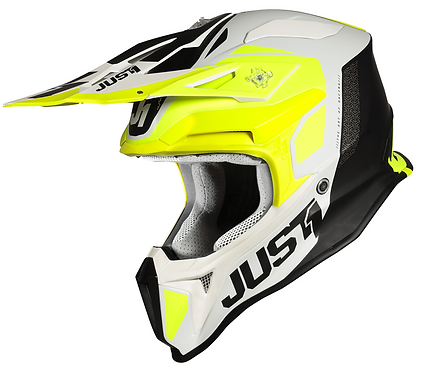 Just1 J18 Pulsar Helmet Fluo Yellow/White/Black Matt