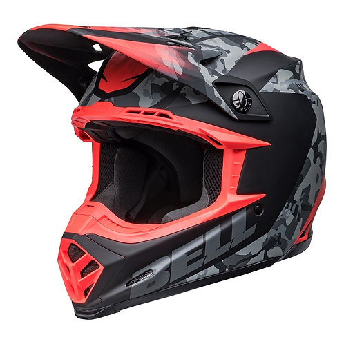 Bell MX 2022 Moto-9 Mips Adult Helmet Venom Matte Black Camo/Infrared