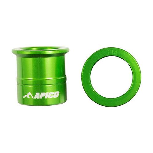 Apico Front Wheel Spacers KX125/250 03-08 KXF250 04-20 KXF450 06-18 Green