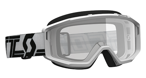 Scott Primal Goggle White/Black With Clear Lens