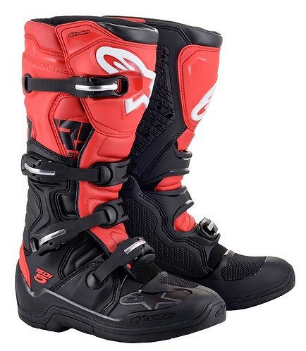ALPINESTARS TECH 5 BOOT BLACK/RED