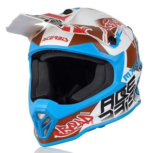Acerbis Steel Kids Helmet White/Blue