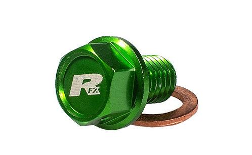 RFX Kawasaki Green Magnetic Oil Drain Bolt