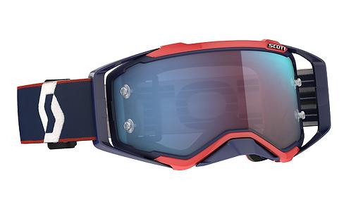Scott 2021 Prospect Goggle Retro Blue/Red With Blue Chrome Lens