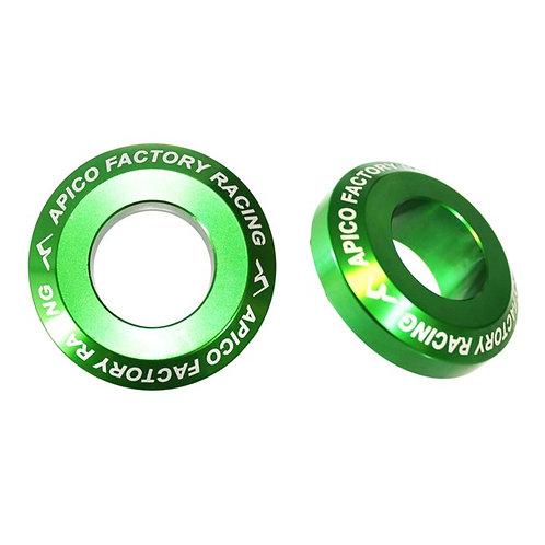 Apico Rear Wheel Spacers Pro KX125/250 03-08 KXF250/450 04-20 Green