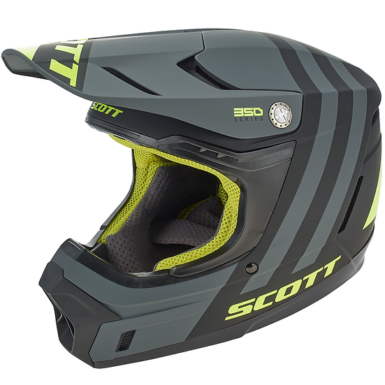SCOTT 350 EVO Plus Dash Helmet Black/Fluo Yellow