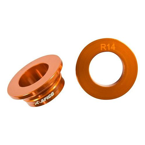 Apico Rear Wheel Spacers SX-SXF 125-450 13-21 Orange