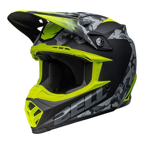 Bell MX 2022 Moto-9 Mips Adult Helmet Venom Matte Black Camo/Hi-Viz Yellow