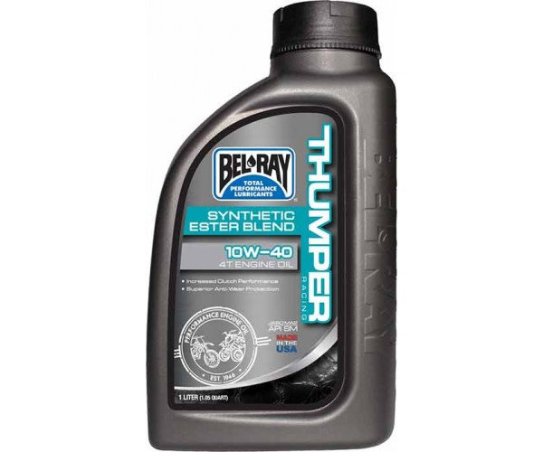 Bel-Ray Thumper Racing Synthetic Ester Blend 4T 10w/40 4L Engine Oil