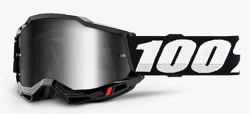100% Accuri 2  Black Goggle Mirror Silver Lens