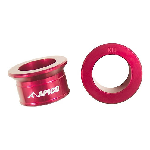 Apico Rear Wheel Spacers CR125/250 02-07 CRF250/450 02-21 Red