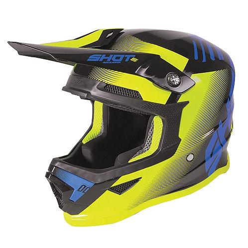 Shot Kids Furious Helmet Trust Black/Cyan/Neon Yellow Matte